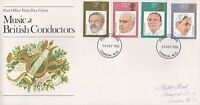 1980 MUSIC AND BRITISH CONDUCTORS FIRST DAY COVER FDC - LONDON POSTMARK