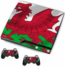 Wales Sticker/Skin PS3 Playstation 3 Console/Remote controllers,psk24