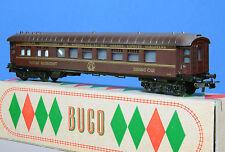 BUCO (2) Voiture restaurant de la CIWL 5551 rouge foncé des années 1950