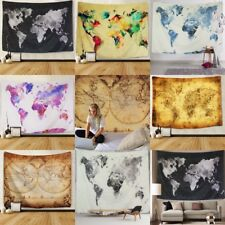 World Map Wall Tapestry Hanging Hippie Tapestry Mandala Bedspread Decor 8 Style