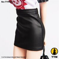 "1/6 Fashion Short Leather Skirt Model Fit 12"" PH HT Female Action Figure Body"