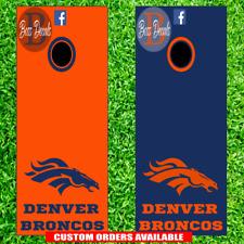 Denver Broncos Cornhole Set of 6 Vinyl Decal Stickers Bean Bag Toss decals nfl