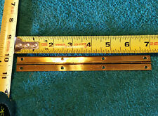 """Small Solid Brass Piano Hinge 7"""" x 3/4"""" Jewelry, Compass, Etc. Boxes NWOT"""