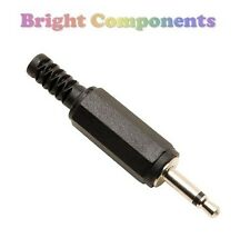 2x 3.5mm Mono Jack Plug for Audio Cable - Pack of 2 - 1st CLASS POST
