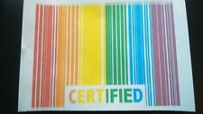 GAY LESBIAN CERTIFIED BARCODE iron on t shirt transfer A5