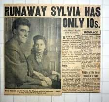 1954 Runaway Lovers Sylvia Zabielak And Her Fiance Ron Thomas