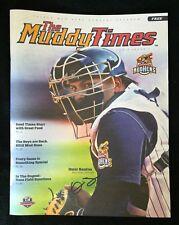 Omir SANTOS Signed Toledo Mud Hens MUDDY TIMES Magazine