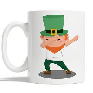Dabbing Leprechaun Mug For St Patricks Day Coffee Cup Gift Idea Funny Kid JA78