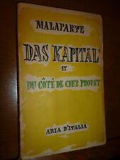 MALAPARTE CURZIO DAS KAPITAL et du cite' de chez proust Aria D' Italia 1951