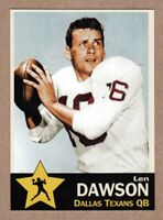 Len Dawson '62 Dallas Texans AFL Monarch Corona Gold Star #12 near mint NM cond.