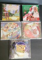 Lot of 5 Christmas CDs Family Favorites NOW Contemporary Coke Classics #L