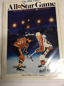 1988 NHL All Star Game Program - Gretzky Lemieux Cover
