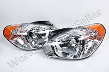 Headlights Front Lamps PAIR Fits HYUNDAI Accent 2006-2010