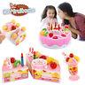 Kids Birthday Luxury Fruit Cake Set Party Pretend Play Kitchen Food Toy DIY