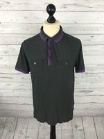TED BAKER Polo Shirt - Size 4 Large - Grey - Great Condition - Men's