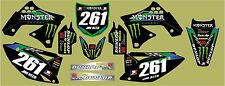 KXF 250 2009-2012 Monster graphic/decal kit PERSONALISED FREE UK SHIPPING