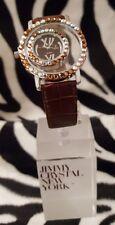 Reloj de lujo diseñador por Jimmy cristal adornado con Swarovski-Todo Alrededor Marrón