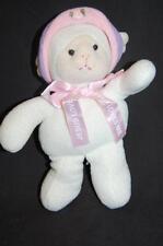 """Jesus Loves Me Ribbon Princess Soft Toys Knit Lamb 9"""" Plush Stuffed Animal Lovey"""