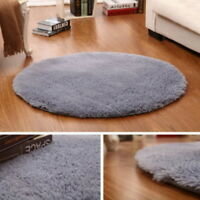 Home Shaggy Fluffy Rugs Carpet Nonslip Area Rug Dining Room Bathroom Floor
