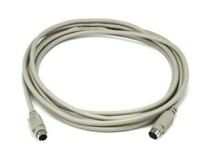 10FT PS/2 MDIN-6 Male to Female M/F Extension Cable Cord For Mouse & Keyboard