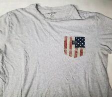 Denim & Supply Ralph Lauren American Flag Pocket T Shirt Large Gray Short Sleeve