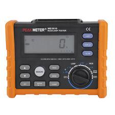 PEAKMETER PM5910 Digit Resistance Meter RCD Loop Resistance Tester Multimeter