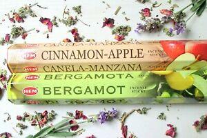 Räucherstäbchen indisch*HEM*2er Set=40 St.*Cinnamon Apple*Bergamotte*Duft Aroma