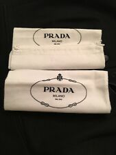 NWOT PRADA DRAWSTRING SHOE BAG FOR FLATS STORAGE TRAVEL 35 X 22 CM NEW Cotton