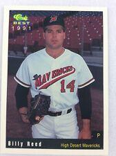 1991 High Desert Mavericks-Classic BEST Minor Lg Baseball Card-Billy Reed
