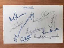 YORKSHIRE COUNTY CRICKET CLUB - 10 Hand signed autographs 1954