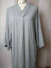 Alfani Intimates Womens Robe Gray Striped Stretch Long Sleeve Open Front M New