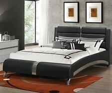 Coaster Furniture 300350Q Jeremaine Upholstered Queen Bed In Black