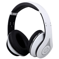 EP640 Wireless Bluetooth Over Ear Stereo Headphones W Microphone & Volume White