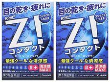 ROHTO Z! Contact Eye Drops X 2 Cool Refreshing Eye Wash Japan Fast Free Ship