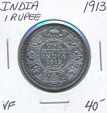 INDIA ONE RUPEE 1913 GEORGE V - VF