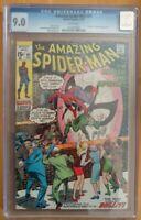 ⭐️ The AMAZING SPIDER-MAN #91 (1970 MARVEL Comics) 9.0 CGC