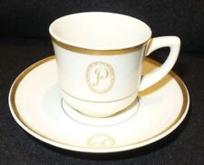 """Vintage Old Ivory Syracuse China Demitasse Cup & Saucer Made in America """"P"""""""