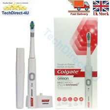 New Colgate ProClinical 250+ Whitening Rechargeable Electric Toothbrush White