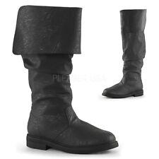 Black Mens Pirate Captain Hook Renaissance Barbossa Slouch Costume Boots 9 10 11