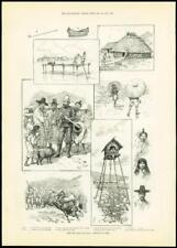 1887 antica stampa-COREA COREA PORTA Hamilton lazareff SQUADRONE CINESE (246)