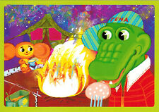 CHEBURASHKA AND CROCODILE GENA ARE CAMPING Modern Russian postcard with song