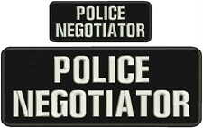 POLICE NEGOTIATOR embroidery patch 4X10 and 2.x5 hook white