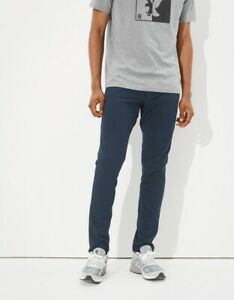 NWT American Eagle Active Flex Slim Pants Stretch ABC Chino Pant Navy 30 x 32