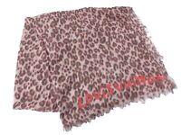 100% Auth Louis Vuitton Monogram Leopard Muffler Shawl Stole Silk Cashmere C1007
