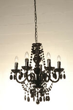 TOMASUCCI lampadario soffitto Jewel Black nero sospensione moderno 5luci 508