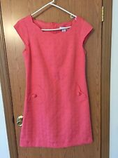 5172)  LIZ CLAIBORNE sz 8 cotton straight fit above knee pink dress