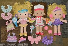 LOT Playskool DRESSY DAISY Dress Up DOLL Chef Tennis Fairy Princess Shoes Outfit