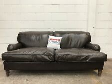 *SUPERIOR Howard And Sons Style Brown Leather Antique Sofa L🇬🇧🇬🇧K*