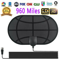 960 Mile Range Antenna TV Digital HD 1080p Skywire 4K Antena Digital Indoor HDTV