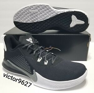 Size 11.5 Nike Mamba Fury Snakeskin Black Smoke Grey Basketball Shoes CK2087 001